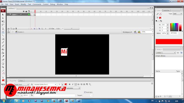 Cara Membuat Animasi Frame By Frame Menggunakan Flash.