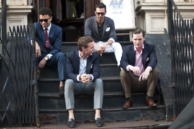 Trajes durante la semana de la moda. Menswear Inspiration
