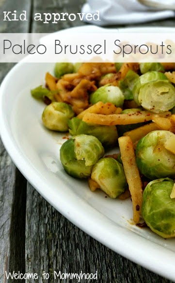 Easy, healthy recipes: easy brussel sprouts 'casserole' {Welcome to Mommyhood} #paleo