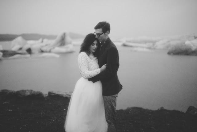 Jökulsárlón, wedding, bride, Iceland, Vik, glacier