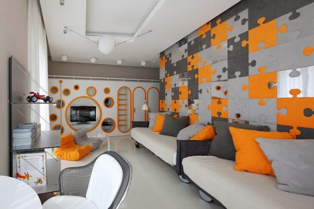 Divano Arancione E Marrone : Arredare con l arancione speciale halloween architettura e