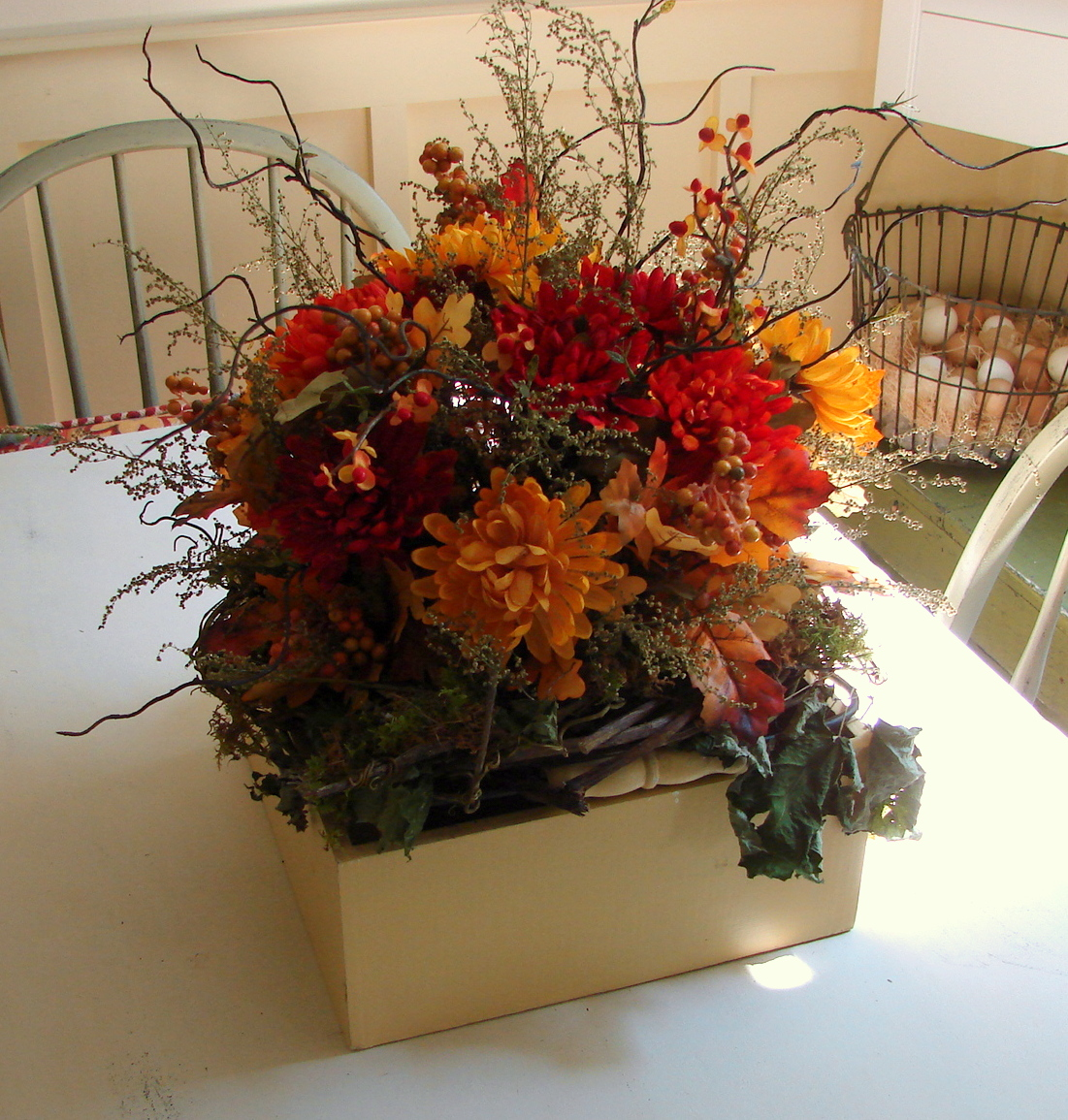 Custom comforts fall decorating for Autumn flower decoration