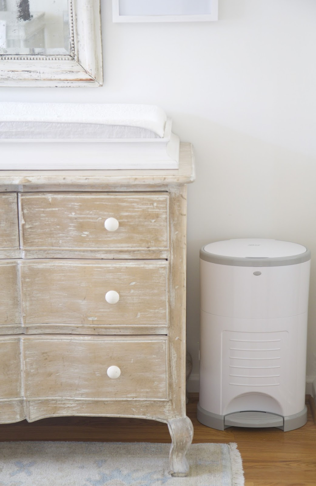 Changing Table Topper By Restoration Hardware; Diaper Dekor Trash Bin; Baby  Tools In The