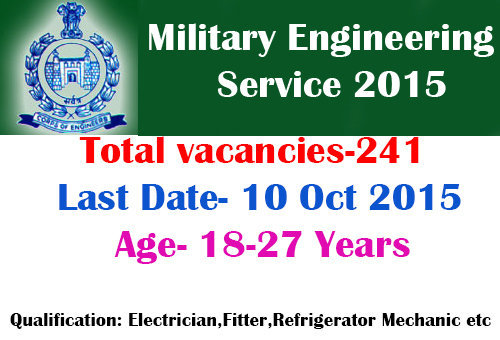 MES ITI Recruitment 2015 (241 Vacancies)