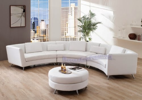 Curved Sofas For Sale: Curved Back Sectional Sofa