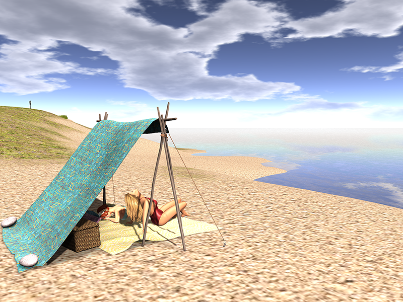 Second Life picnic tent for girlfriends