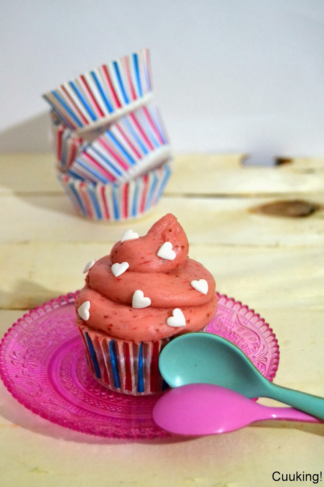 strawberry cupcakes fresas naturales san valentin