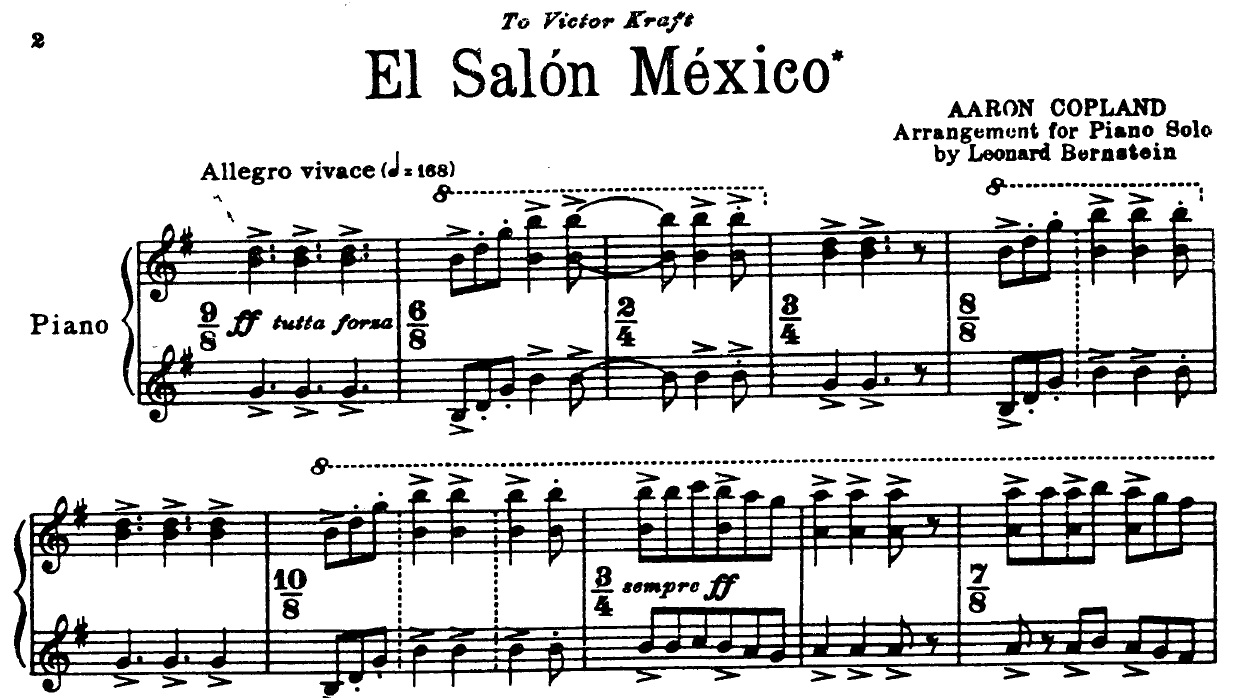 Aaron Copland El Salon Mexico Score Of Gay Influence Aaron Copland