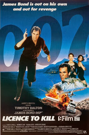 007 Licence To Kill 1989 poster
