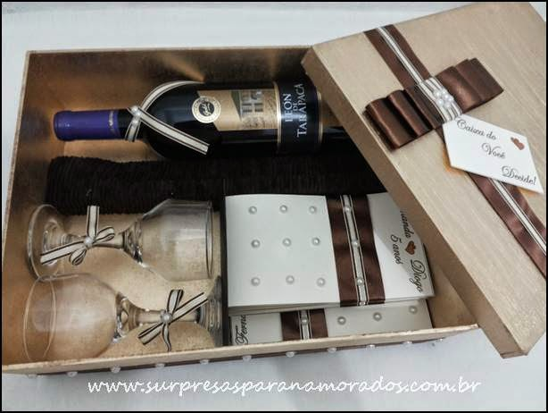 caixa presente namorado