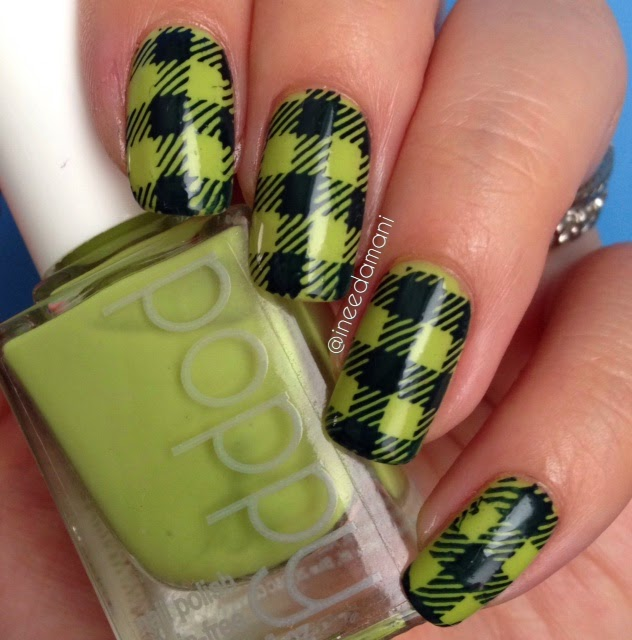 poppy nail polish in the tropics back to school plaid nails