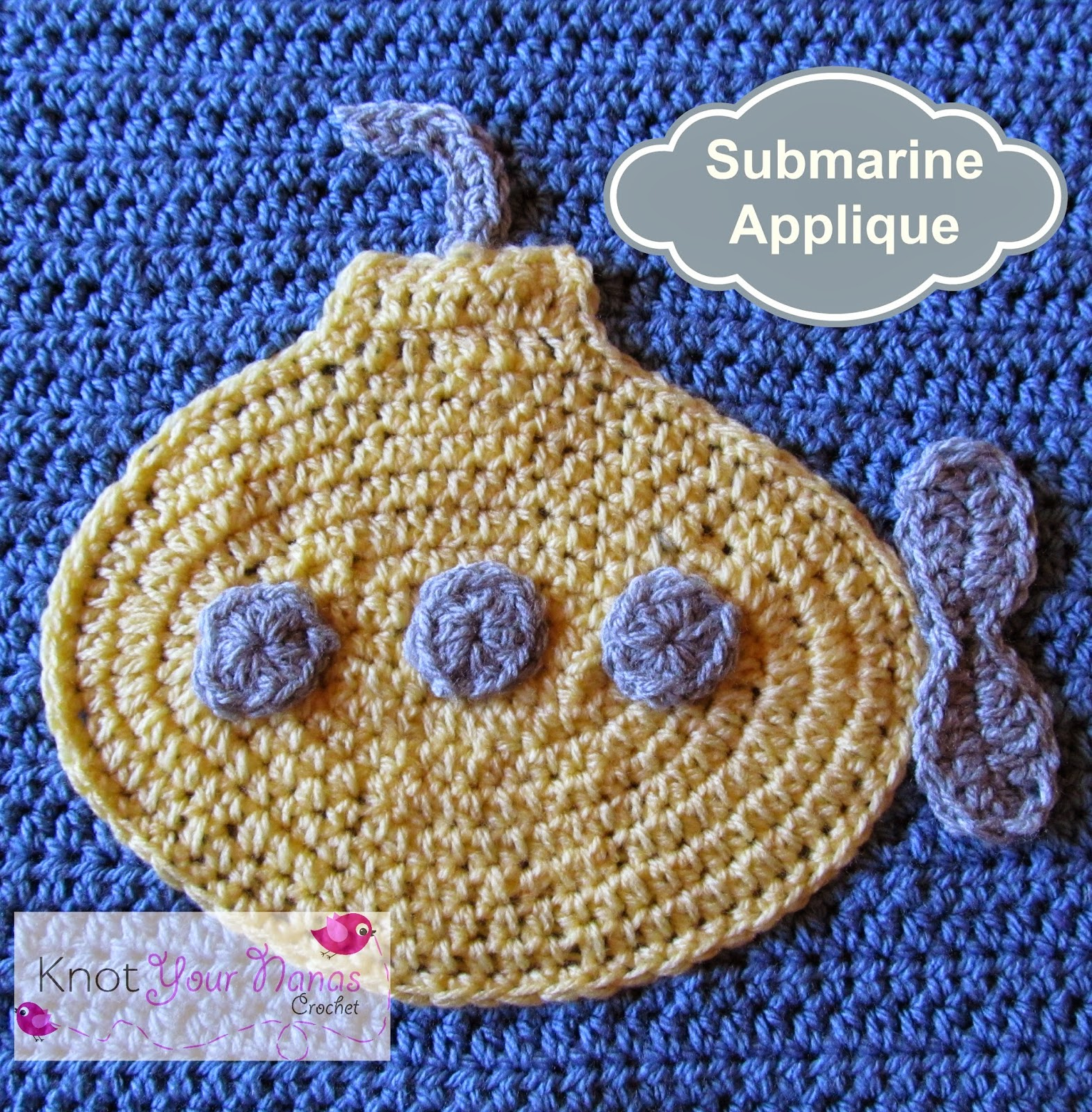 Submarine-Crochet-Applique