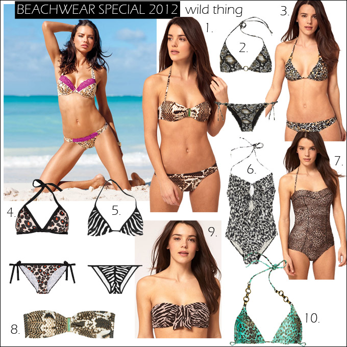 This edition is dedicated to animal print swimwear.