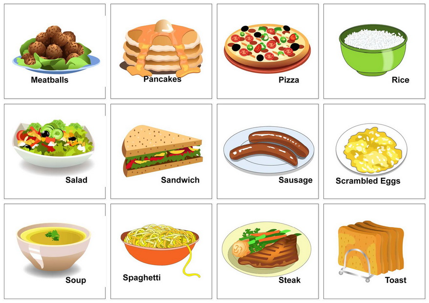 Food vocabulary my english and science for Cuisine vocabulary