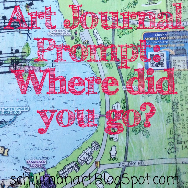 art journal prompt | art journal ideas | art journal pages http://schulmanart.blogspot.com/2014/07/art-journal-prompt-where-did-you-go.html