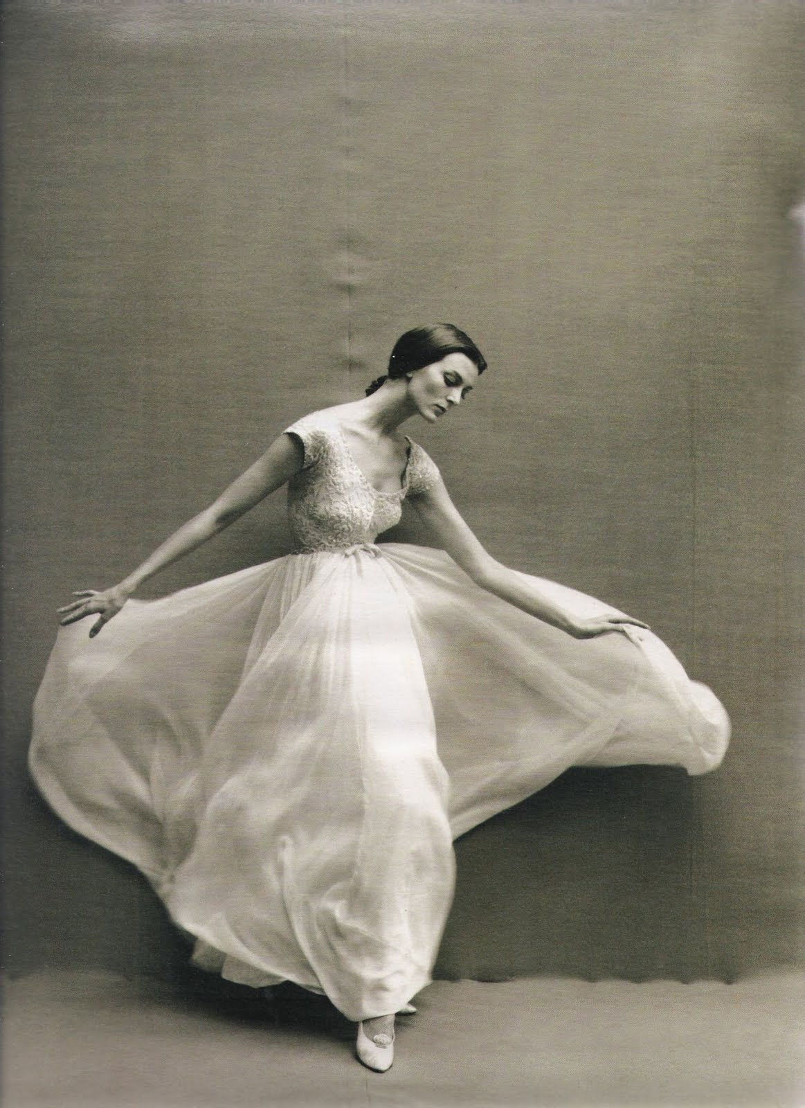via fashioned by love | Carmen Dell'Orefice by Richard Avedon in Harper's Bazaar October 1957 | Carmen Dell'Orefice biography