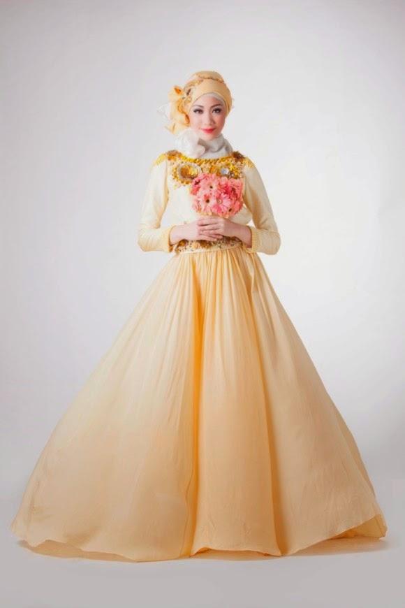 Gaun pernikahan yang anggun