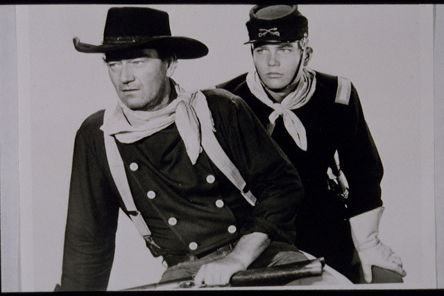 Berets scenes were filmed with vera miles as wayne s wife they were
