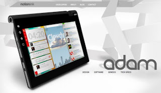 Notion Ink's Adam tablet reveals more details