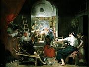 Fue pintado entre 1656 y 1658 y bautizado como Las Hilanderas a partir de . (velazquez las hilanderas)