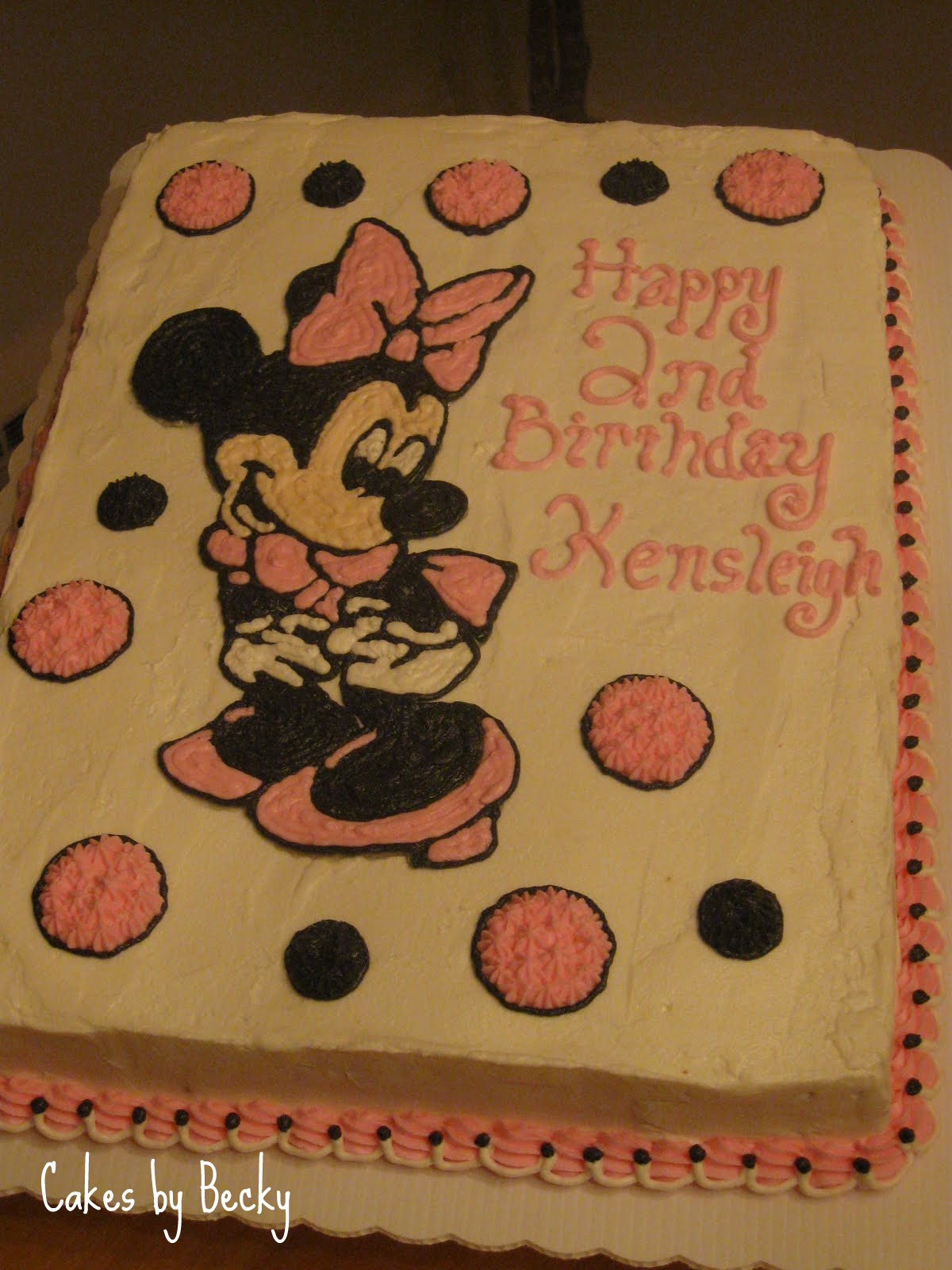 Cakes by Becky Minnie Mouse Birthday Cake