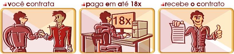 criação de sites parcelamento em 18x
