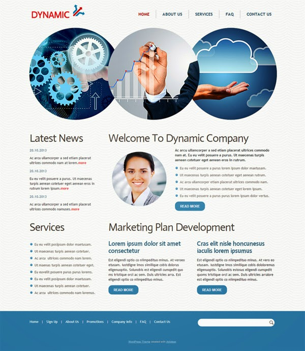 Dynamic - Free Wordpress Theme