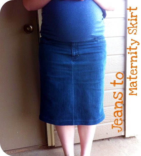Beautiful Somehow: Maternity Jean Skirt Upcycle