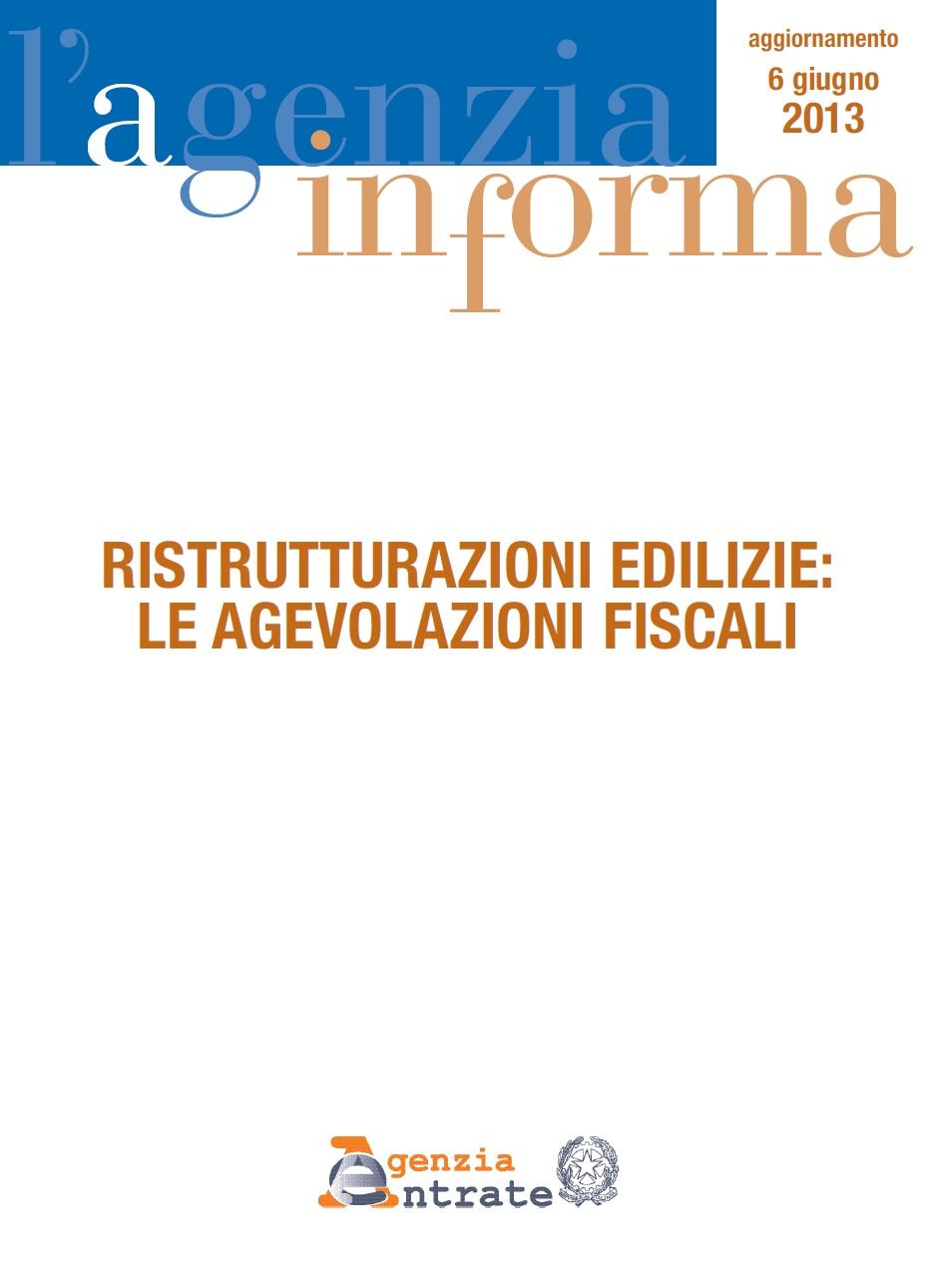Imposte diritti ristrutturazioni edilizie guida alle for Agenzia delle entrate ristrutturazioni edilizie
