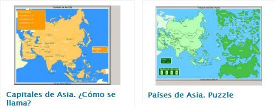 Las clases de Ciencias Sociales Asia poltico  Actividades