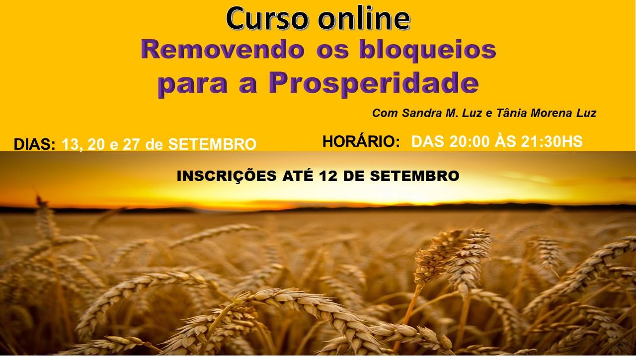 CURSO ONLINE - REMOVENDO OS BLOQUEIOS PARA A PROSPERIDADE