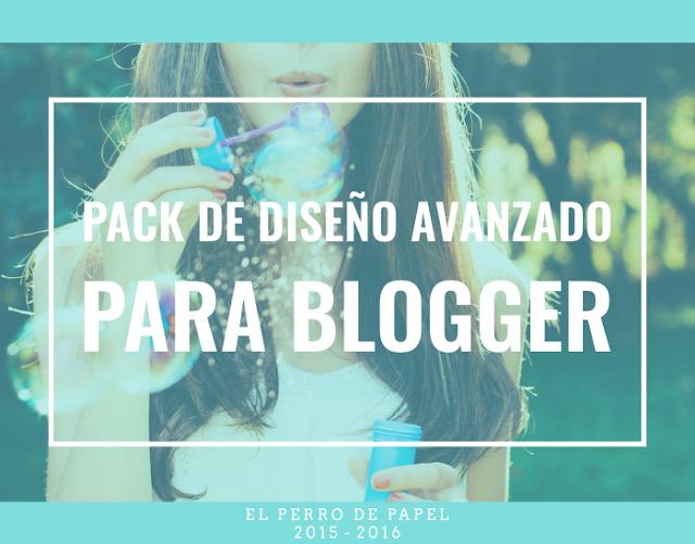 Novedades en los Packs de Diseño Profesional para Blogger