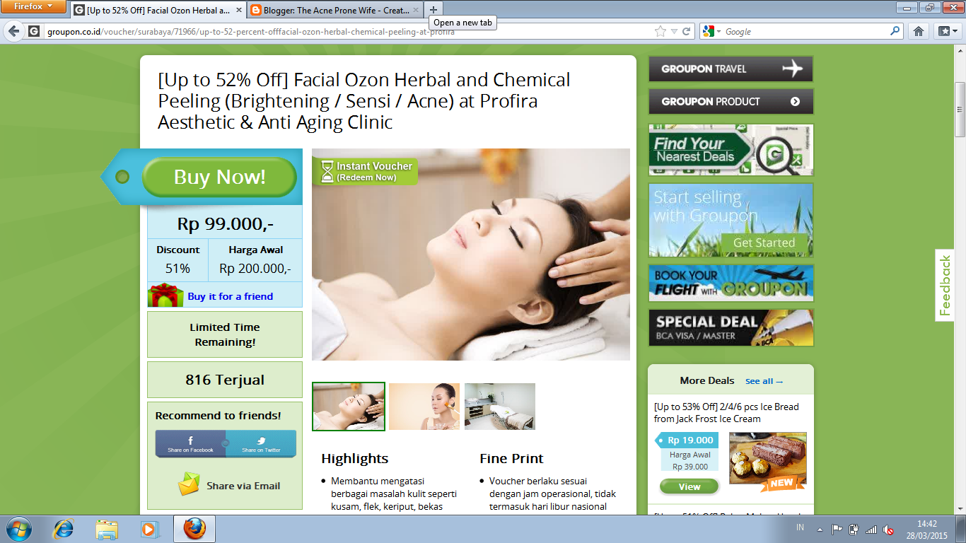 Facial Review Ozon Herbal At Profira Aesthetic Anti Aging Erha Acne Back Spray Special Clinic