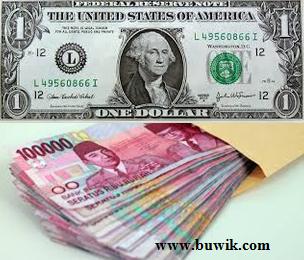 Nilai tukar rupiah melemah terhadap US Dolar