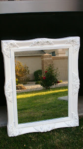 White Shabby Mirror  *SOLD*