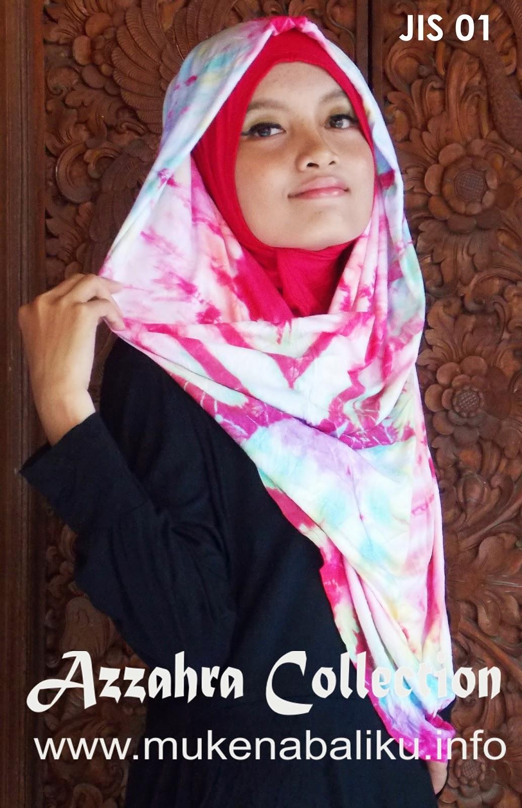 Pakaian Muslim Jilbab Pelangi