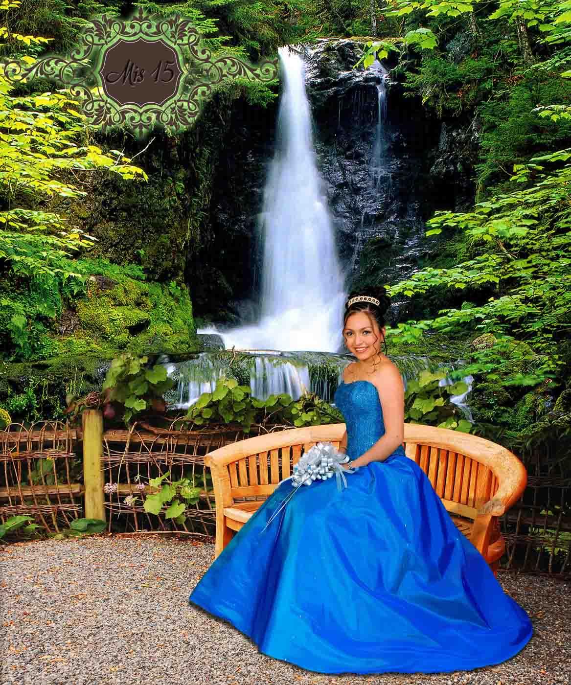 Jardin con una cascada plantillas para photoshop 2017 for Cascadas de jardin