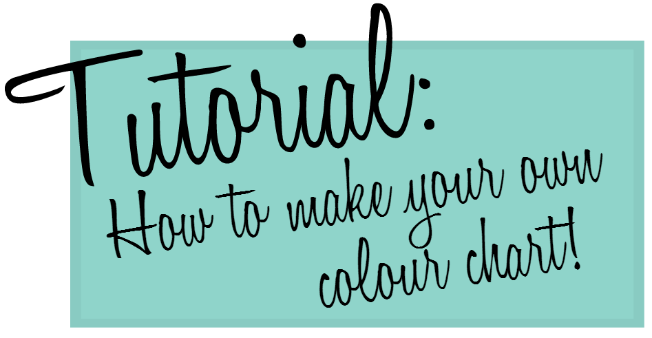 How to make your own colour chart for interior design or web design