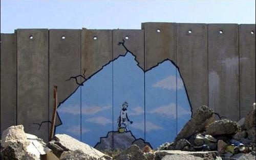 street art banksy en palestine projet santa 39 s ghetto juillet 2005 paris la douce. Black Bedroom Furniture Sets. Home Design Ideas