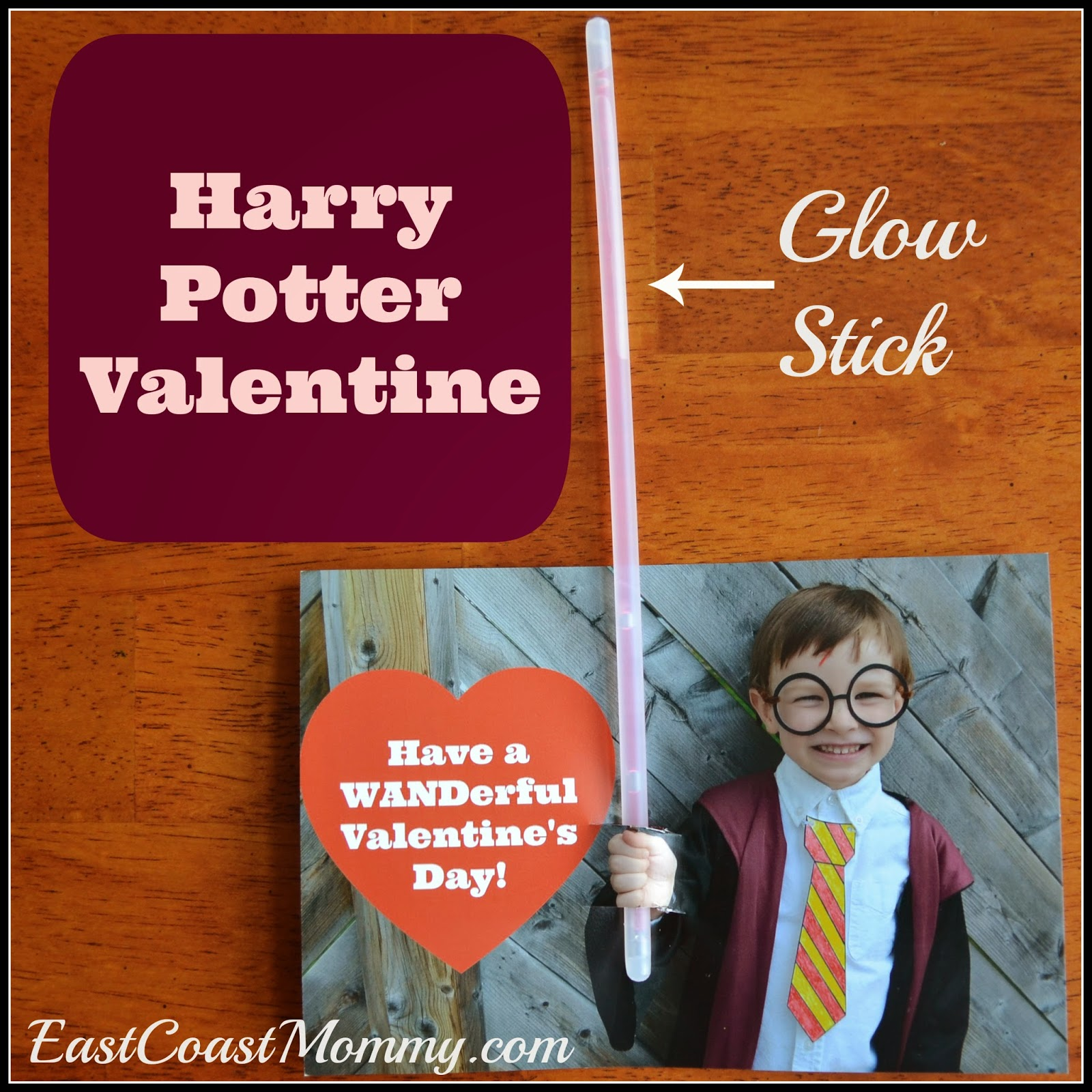 To Make This Valentine, I Took A Picture Of My Son Dressed As Harry Potter  With His Hand Sticking Out In Front Of Him, And I Added A Valentineu0027s Day  ...