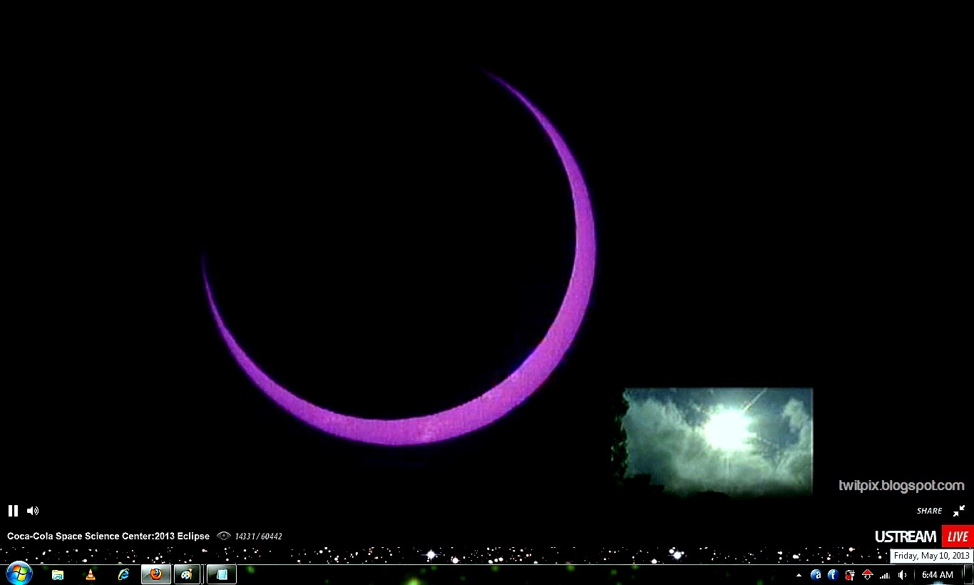 Pictures of ring of fire eclipse