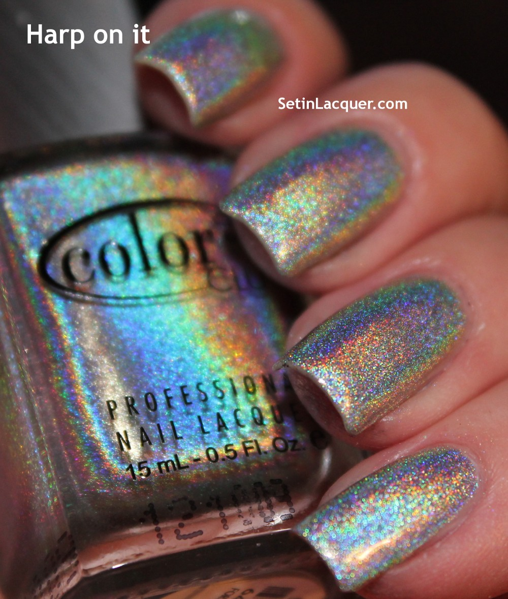 Color Club Holographic Nail Polish Swatches: Color Club Halo Hue Collection Swatches And Review
