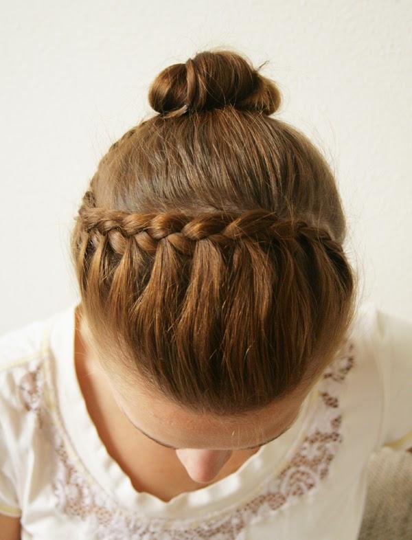 DIY Braided Headband Updo Hairstyle - The Idea King