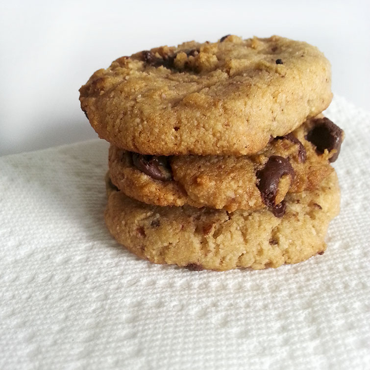 Gluten Free Chocolate Chip Cookies by Isn't that Sew (Elana's Pantry Recipe)