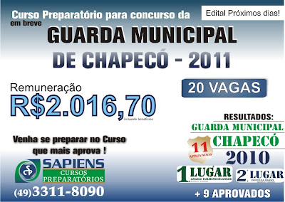 Concurso para a guarda municipal