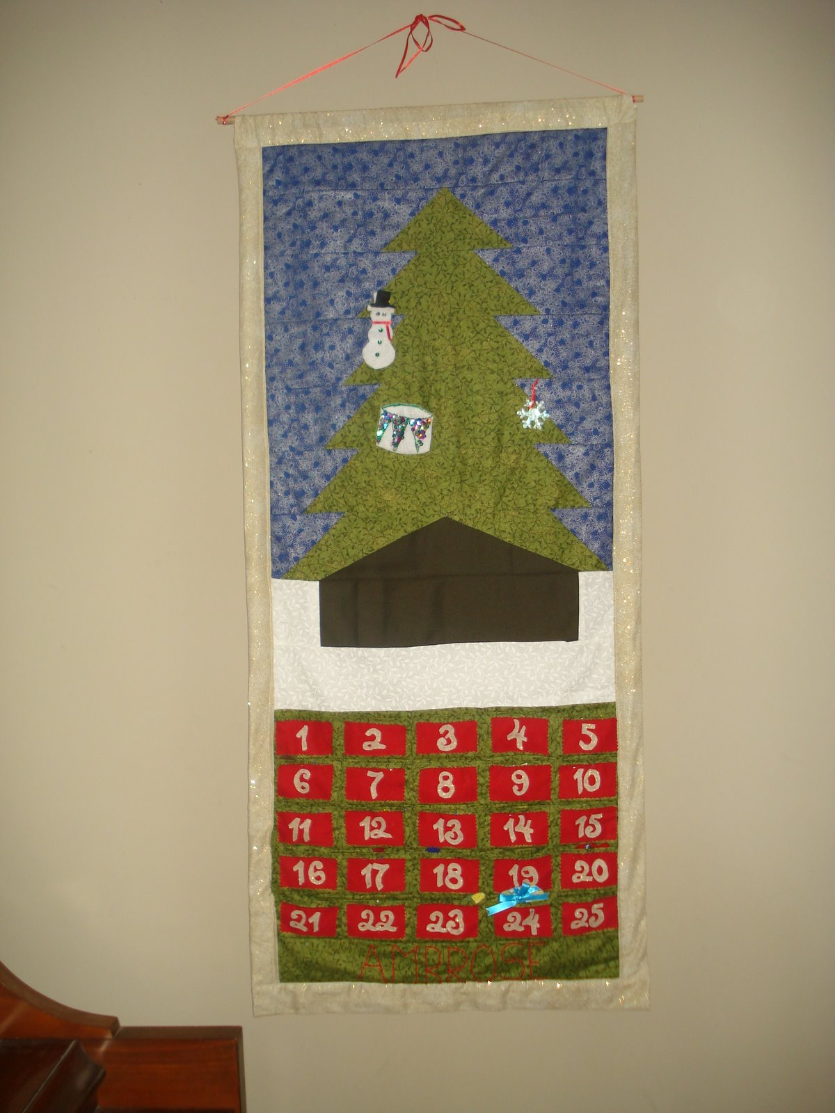 Quilted Advent Calendar