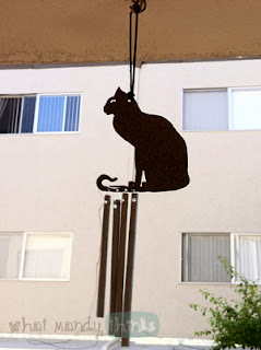 "What Mandy Thinks: Image of my cat windchime: ""The kitty chimes are up and sounding pretty."""