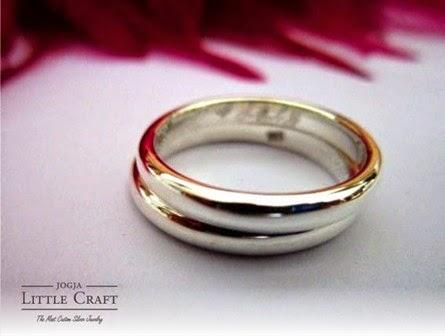 cincin perak half rattan - jogja little craft