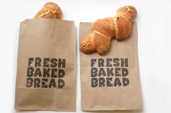 paper crafts:  paper bread bag tutorial