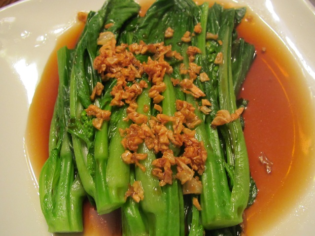 Choy Sum In Garlic and Soy Sauce